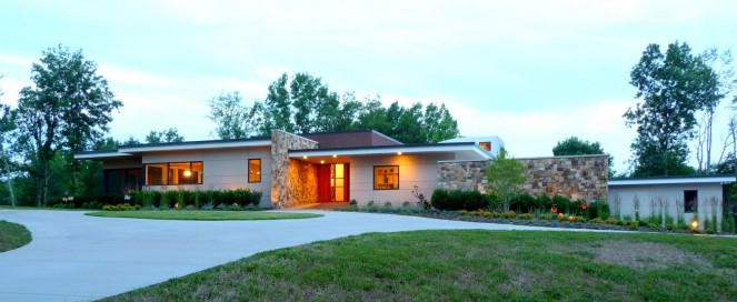 modern house architects in trace creek