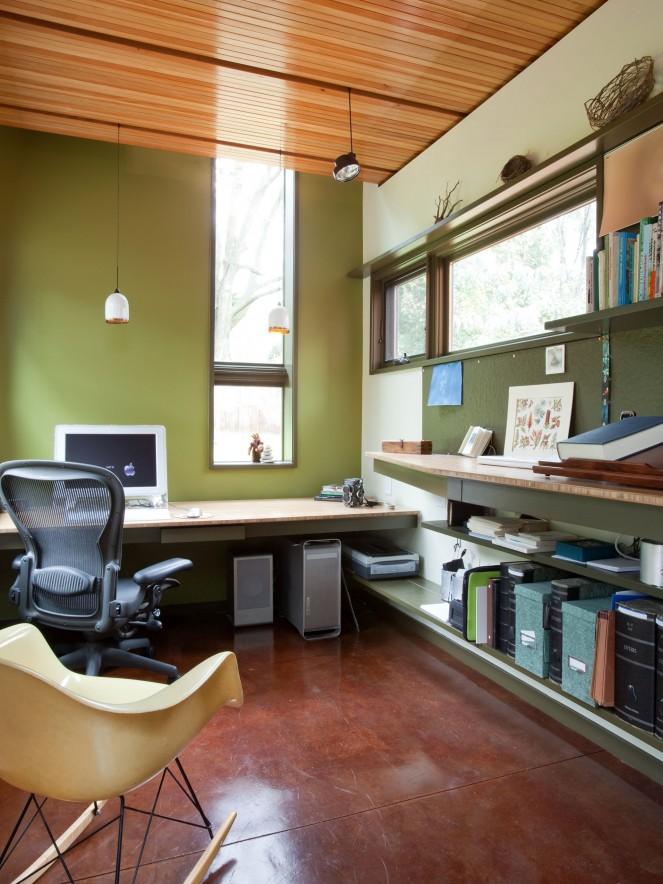 Elegant Study Room Design - John TeSelle Architecture